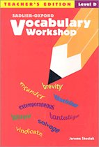 "<font title=""Vocabulary Workshop Level D - Teacher book (New Edition / Paperback)"">Vocabulary Workshop Level D - Teacher bo...</font>"