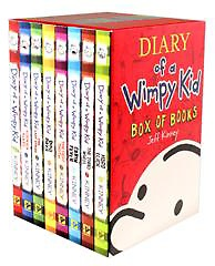 "<font title=""Diary of a Wimpy Kid #1~8 Box Set (Paperback:8)"">Diary of a Wimpy Kid #1~8 Box Set (Paper...</font>"