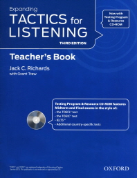"""<font title=""""Expanding Tactics for Listening, 3rd Edition : Teachers Resource Pack (Paperback+CD:2)"""">Expanding Tactics for Listening, 3rd Edi...</font>"""
