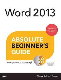 "<font title=""Word 2013 Absolute Beginner"