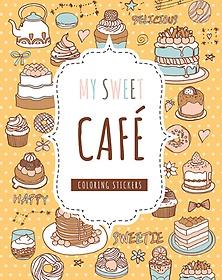 마이 스위트 카페 컬러링 스티커