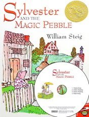 """<font title=""""Sylvester and the Magic Pebble (Paperback+CD:1)"""">Sylvester and the Magic Pebble (Paperbac...</font>"""