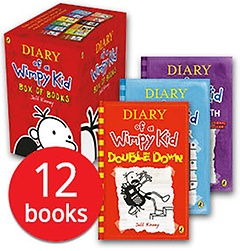 "<font title=""윔피키드 Diary of a Wimpy Kid Box Set (slipcase/ paperback:12) - 영국판"">윔피키드 Diary of a Wimpy Kid Box Set (s...</font>"