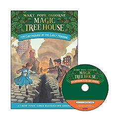 Magic Tree House #24 : Earthquake in the Early Morning (Paperback+ CD)