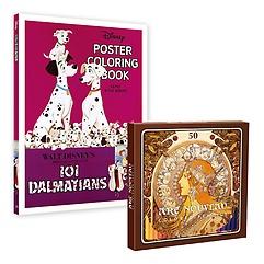 """<font title=""""디즈니 포스터 컬러링북+아르누보 색연필 50색 세트"""">디즈니 포스터 컬러링북+아르누보 색연필 5...</font>"""