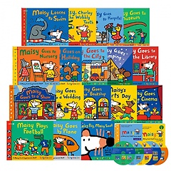 """<font title=""""[세이펜 BOOK] A Maisy First Experiences Book and More! 메이지 영어그림책 17종 : SET A+B 풀세트 (Paperback + Audio CD 증정)"""">[세이펜 BOOK] A Maisy First Experiences ...</font>"""
