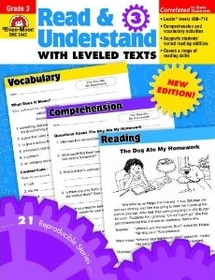 """<font title=""""Read & Understand with Leveled Texts, Grade 3 (Paperback)"""">Read & Understand with Leveled Texts, Gr...</font>"""