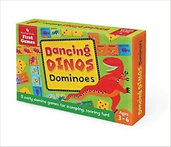 Dancing Dinos Dominoes Game (Hardcover)