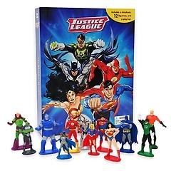 "<font title=""DC Comics Justice League My Busy Book DC 코믹스 저스티스 리그 마이 비지북 (미니피규어 12개, 놀이판 포함)"">DC Comics Justice League My Busy Book DC...</font>"