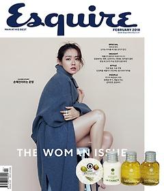 에스콰이어 Esquire (월간) 2월호 + [부록] 라치나타 웰컴팩 (올리브오일 비누 20g, 샤워젤 30ml, 바..