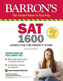 """<font title=""""SAT 1600 with Online Test: Aiming for the Perfect Score (Paperback, 7)"""">SAT 1600 with Online Test: Aiming for th...</font>"""