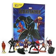 "<font title=""Marvel Black Panther My Busy Books 마블 블랙 팬서 비지북 (미니피규어 10개, 놀이판 포함)"">Marvel Black Panther My Busy Books 마블 ...</font>"