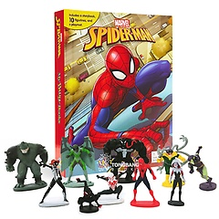 "<font title=""Marvel Spider-Man (2018) My Busy Books 마블 스파이더맨 2018 비지북 (미니피규어 10개, 놀이판 포함)"">Marvel Spider-Man (2018) My Busy Books ...</font>"