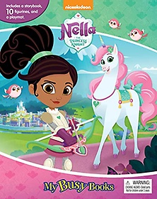 """<font title=""""Nick Nella The Princess Knight My Busy Books 닉 넬라 공주 기사 비지북 (미니피규어 12개, 놀이판 포함)"""">Nick Nella The Princess Knight My Busy B...</font>"""