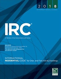 """<font title=""""International Residential Code for One- and Two-family Dwellings 2018 (Paperback)"""">International Residential Code for One- ...</font>"""