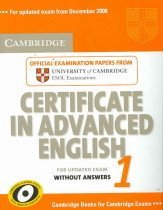"""<font title=""""Cambridge Certificate in Advanced English 1: Official Examination Papers from University of Cambridge ESOL Examinations: Without Answers (Paperback) """">Cambridge Certificate in Advanced Englis...</font>"""