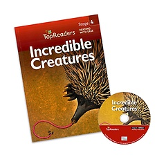 "<font title=""Top Readers 4-4 : Incredible Creatures (Student Book + CD)"">Top Readers 4-4 : Incredible Creatures (...</font>"