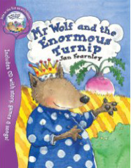 """<font title=""""Mr Wolf and the Enormous Turnip (Paperback+CD)"""">Mr Wolf and the Enormous Turnip (Paperba...</font>"""