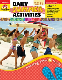 """<font title=""""Daily Summer Activities, Moving from 7th to 8th Grade (Paperback)"""">Daily Summer Activities, Moving from 7th...</font>"""