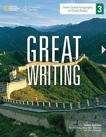 Great Writing 3 : Student book (Paperback/ 3th Ed.) 책표지