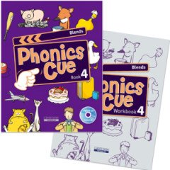 Phonics Cue 4 Set (Student Book+ Workbook+ CD)