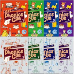 Phonics Cue 1~4 Set (Student Book:4+ Workbook:4+ CD:4)