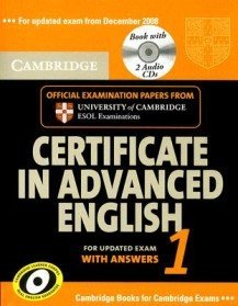 """<font title=""""Cambridge Certificate in Advanced English 1: For Updated Exam from December 2008 with CD (Audio) (Paperback) """">Cambridge Certificate in Advanced Englis...</font>"""