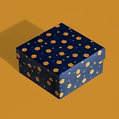 카카오 프렌즈 얼굴 패턴 선물 포장 박스 상자