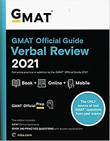 """<font title=""""GMAT Official Guide Verbal Review 2021, Book + Online Question Bank: Book + Online (Paperback/ 1st Edition)"""">GMAT Official Guide Verbal Review 2021, ...</font>"""