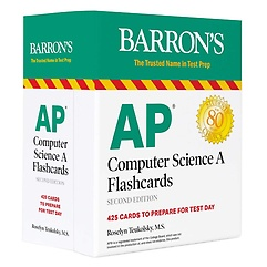 """<font title=""""AP Computer Science A Flashcards: 425 Cards to Prepare for Test Day (Cards)"""">AP Computer Science A Flashcards: 425 Ca...</font>"""