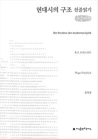 현대시의 구조 (큰글씨책)