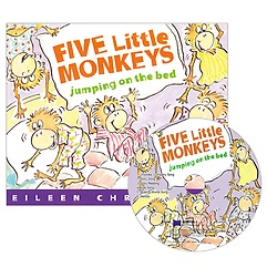 """<font title=""""노부영 세이펜 Five Little Monkeys Jumping on the Bed  (Paperback+CD)"""">노부영 세이펜 Five Little Monkeys Jumpin...</font>"""