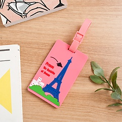 핑크 파리 트래블 네임택
