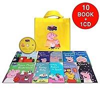 Peppa Pig : Yellow Bag (book:10+CD:1)