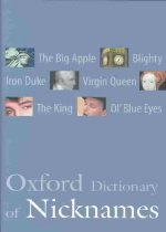 """<font title=""""Oxford Dictionary of Nicknames (Hardcover)"""">Oxford Dictionary of Nicknames (Hardcove...</font>"""