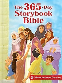 """<font title=""""The 365-day Storybook Bible, Padded (Hardcover)"""">The 365-day Storybook Bible, Padded (Har...</font>"""
