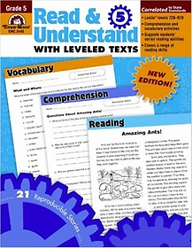 """<font title=""""Read & Understand with Leveled Texts, Grade 5 (Paperback)"""">Read & Understand with Leveled Texts, Gr...</font>"""