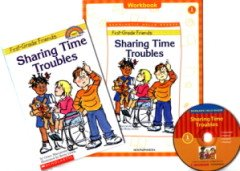 """<font title=""""Sharing Time Troubles - Scholastic Hello Reader Level 1-36 (Paperback + CD + Workbook)"""">Sharing Time Troubles - Scholastic Hello...</font>"""