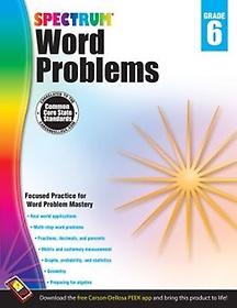 Word Problems, Grade 6 (Paperback)