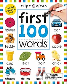 "<font title=""Wipe Clean First 100 Words (Hardcover / Board Book)"">Wipe Clean First 100 Words (Hardcover / ...</font>"