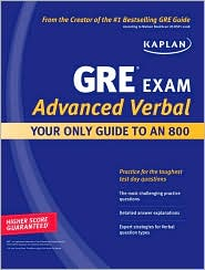 """<font title=""""Kaplan GRE Exam Advanced Verbal : Your Only Guide to an 800 (Paperback)"""">Kaplan GRE Exam Advanced Verbal : Your O...</font>"""