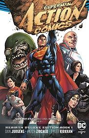 """<font title=""""슈퍼맨 : 액션 코믹스: 리버스 디럭스 에디션 BOOK 1"""">슈퍼맨 : 액션 코믹스: 리버스 디럭스 에디...</font>"""