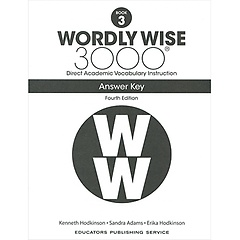 """<font title=""""Wordly Wise 3000 :  Book 3 Answer Key  (Paperback/4th Ed.)"""">Wordly Wise 3000 :  Book 3 Answer Key  (...</font>"""