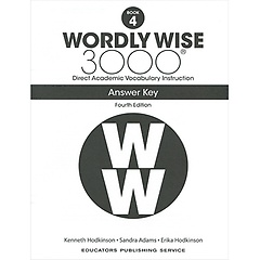 """<font title=""""Wordly Wise 3000 :  Book 4 Answer Key  (Paperback/4th Ed.)"""">Wordly Wise 3000 :  Book 4 Answer Key  (...</font>"""