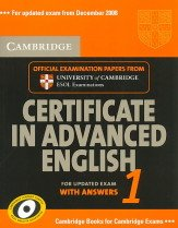 """<font title=""""Cambridge Certificate in Advanced English 1 with Answers: Official Examination Papers from University of Cambridge ESOL Examinations (Paperback/ Updated) """">Cambridge Certificate in Advanced Englis...</font>"""