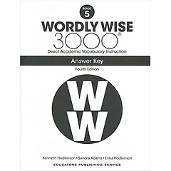 """<font title=""""Wordly Wise 3000 :  Book 5 Answer Key  (Paperback/4th Ed.)"""">Wordly Wise 3000 :  Book 5 Answer Key  (...</font>"""