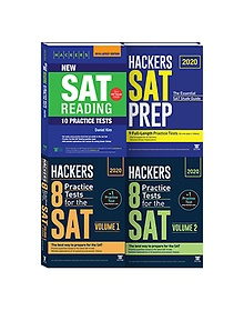 Hackers New SAT Reading + 2020 HACKERS SAT PREP + 2020 Hackers 8 Practice Tests for the SAT Volume 1~2 패키지