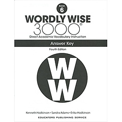 """<font title=""""Wordly Wise 3000 :  Book 6 Answer Key  (Paperback/4th Ed.)"""">Wordly Wise 3000 :  Book 6 Answer Key  (...</font>"""