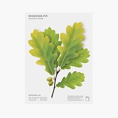 초록 도토리잎 북마크펜 (2p)