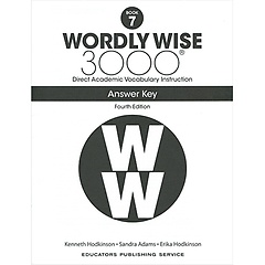 """<font title=""""Wordly Wise 3000 :  Book 7 Answer Key  (Paperback/4th Ed.)"""">Wordly Wise 3000 :  Book 7 Answer Key  (...</font>"""